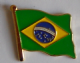 Brazil Country Flag Enamel Pin Badge